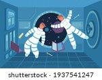 astronaut weightlessness flat... | Shutterstock .eps vector #1937541247