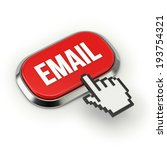 Red Email Button With Metallic...
