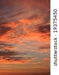 autumn sunset in romania. | Shutterstock . vector #19375450