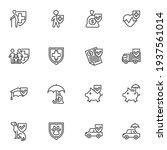insurance service line icons... | Shutterstock .eps vector #1937561014