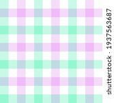 peppermint and lilac gingham....   Shutterstock .eps vector #1937563687