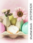 Box With Pastel Colored Easter...