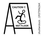 wet floor sign board icon in... | Shutterstock .eps vector #1937596264