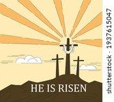 christian cross on the... | Shutterstock .eps vector #1937615047