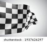 black and white checkered flag  ... | Shutterstock .eps vector #1937626297