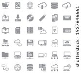data storage icons. gray flat...   Shutterstock .eps vector #1937646661