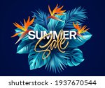 summer tropical background with ... | Shutterstock .eps vector #1937670544