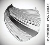 lines in unusual form . sphere... | Shutterstock .eps vector #1937685664