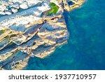 Aerial View Of Calafuria Rocks