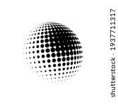halftone sphere dotted vector... | Shutterstock .eps vector #1937711317