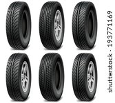 vector car tires | Shutterstock .eps vector #193771169