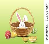 happy easter concept. rabbit in ...   Shutterstock .eps vector #1937717554