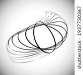 lines in unusual form . spiral... | Shutterstock .eps vector #1937730367