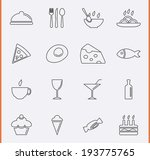 food and drink icons in thin... | Shutterstock .eps vector #193775765