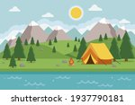 amping landscape. countryside... | Shutterstock .eps vector #1937790181