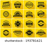 taxi badge with shadow  vector... | Shutterstock .eps vector #193781621