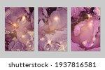 set of marble patterns. purple...   Shutterstock .eps vector #1937816581