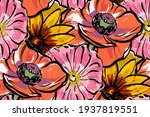 seamless pattern. red large... | Shutterstock .eps vector #1937819551