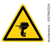outboard motor symbol sign...   Shutterstock .eps vector #1937842324