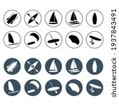 watersports round icons set....   Shutterstock .eps vector #1937843491