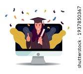 online virtual graduation video ...   Shutterstock .eps vector #1937850367