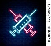 glowing neon line crossed...   Shutterstock .eps vector #1937880241