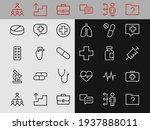 a simple set of medicine icons  ... | Shutterstock .eps vector #1937888011