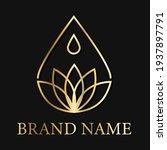 drop lotus flower creative logo ... | Shutterstock .eps vector #1937897791