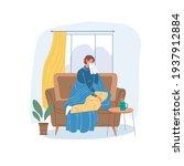 vector cartoon flat patient... | Shutterstock .eps vector #1937912884