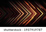 abstract red yellow black arrow ...   Shutterstock .eps vector #1937919787