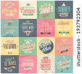 Summer And Travel Set   Labels...