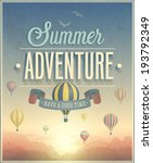 summer adventure poster. vector ... | Shutterstock .eps vector #193792349