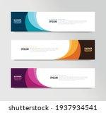 vector abstract banner design... | Shutterstock .eps vector #1937934541