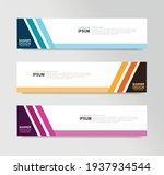 vector abstract banner design... | Shutterstock .eps vector #1937934544