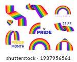 set of rainbow icon. lgbt...   Shutterstock .eps vector #1937956561