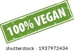 100 percent vegan green square... | Shutterstock .eps vector #1937972434