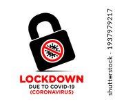 lockdown due to coronavirus...   Shutterstock .eps vector #1937979217