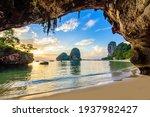 Phra Nang Cave Beach At Sunset  ...