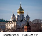 Golden Dome With Orthodox Cross ...