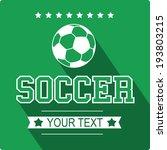 soccer sign flat design | Shutterstock .eps vector #193803215