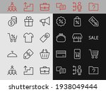 black friday icon set contains...   Shutterstock .eps vector #1938049444
