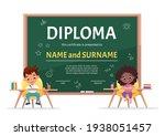 school kids diploma certificate ... | Shutterstock .eps vector #1938051457
