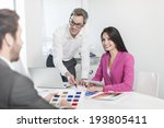 work team in meeting at office | Shutterstock . vector #193805411