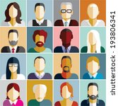 people icons. people flat icons ... | Shutterstock .eps vector #193806341