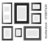 7 black frames over white... | Shutterstock .eps vector #193807634