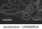 grey contours vector topography....   Shutterstock .eps vector #1938089824