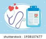 medical care history and... | Shutterstock .eps vector #1938107677