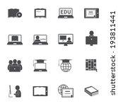 online education e learning... | Shutterstock .eps vector #193811441