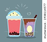 two cups of boba teas   Shutterstock .eps vector #1938114577