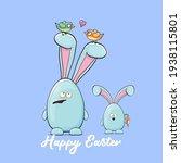 cartoon funny cartoon blue...   Shutterstock .eps vector #1938115801